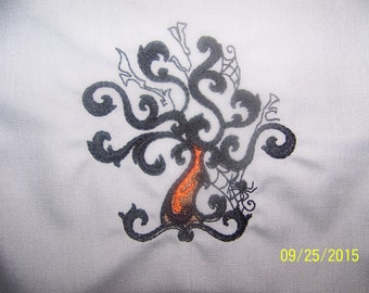 Baroque Halloween  Witch's Tree:  Kitchen Towel/Hand Towels