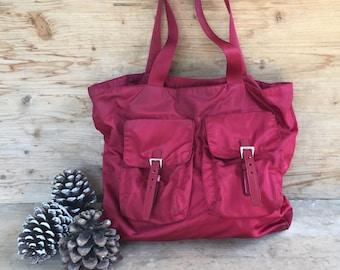 vintage Prada bag , original   '90, woman fashion bag, red bag tote bags