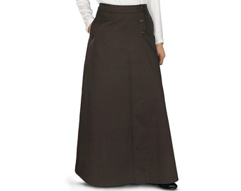 Shujana Long Skirt AS002 Islamic Formal, Daily & Casual Wear Made In Poplin 100% Cotton Fabric. Comes with Utility Pocket Both Sides