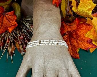 """7 1/2"""" Freshwater Pearl 14k Gold Bead bracelet Bracelet"""