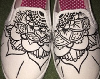 Mendala Hand-Painted Shoes