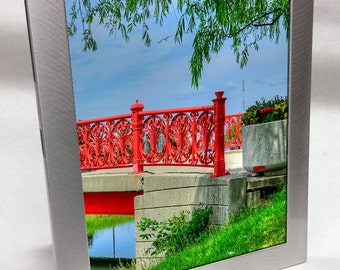 Silver Aluminum Custom Engraved Frame for 8x10 Photo
