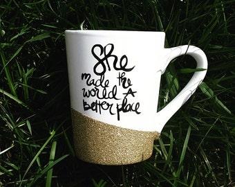 Made the world better mug // coffee mug // coffee inspiration // coffee cup // gift
