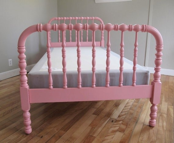 Jenny Lind Bed Twin Spindle Bed Pink Or Your By Dianemarieshome Etsy