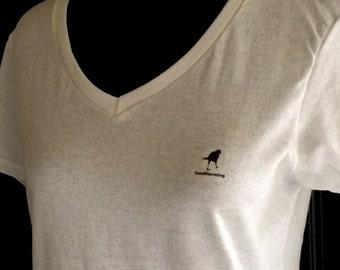 "SandStorming Crow Logo Tee Shirt ""Walking Crow"""