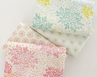 160cm / 63 inch Width, Large Flower Floral and Small Flower Floral Pattern Cotton Fabric, Half Yard