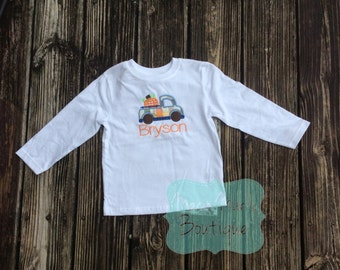 Fall Kids Pumpkin Truck Shirt - Pumpkin truck shirt - Fall custom shirt - Boys Fall shirt - Boys autumn shirt - boys boutique
