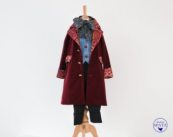 Mad Hatter Costume | Mad Hatter Coat, Vest, Trousers, Bow | Boys Velvet Coat | Alice in Wonderland | Victorian Kids Coat | Steampunk Outfit