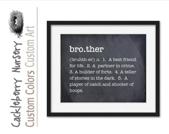 Brother Gift, Brother Wall Art, Brother Gift Ideas, Big Brother, Brother Sign, Brother Gift for Christmas, Boy Nursery, Brother Definition