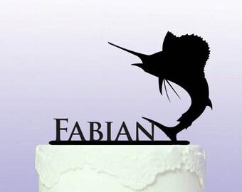 Personalised Sport Fishing Cake Topper