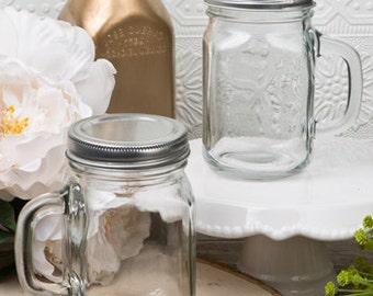 Plain or Personalized 12 oz Glass Mason Jar Favor
