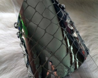 Leather + Swarovski Crystal Beads Bracelet IV.