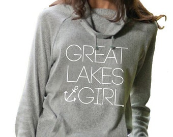 Great Lakes Girl Knit Funnel Neck Sweater