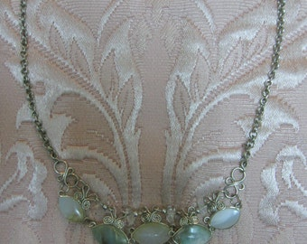 Peruvian Opal and Wirework Necklace #42