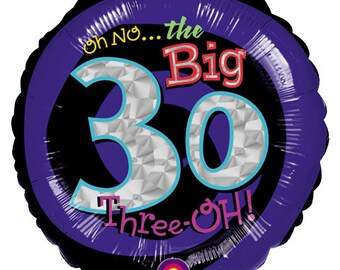 Clearance 30th Birthday Balloons 30th Anniversary Party Balloons Oh No the Big 3 0 30 Year Balloons
