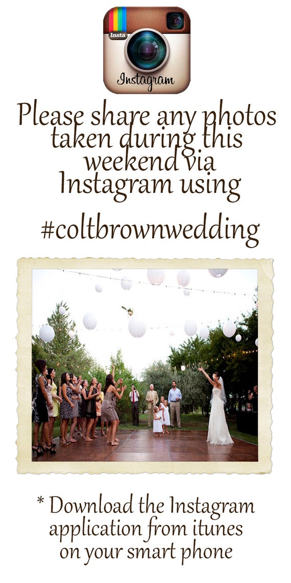 instagram wedding flyer template. Black Bedroom Furniture Sets. Home Design Ideas