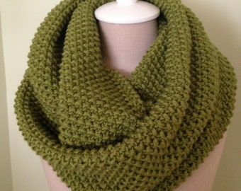 infinity Scarf Warm and Cosy Color Avocado Green