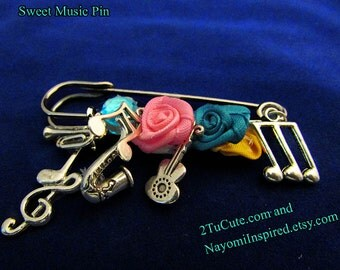 All About the Music Pin/Brooch Jewelry