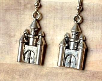 Whimsical Little Fairy Castle Earrings