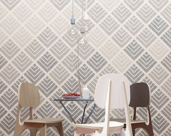 Geometric Wall Stencil -  Large Wall Stencil For Wall Decoration - Best Reusable Wall Stencil