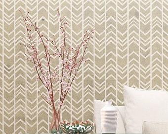 Modern Wall Stencil - Decorative Arrows Pattern - Reusable Stencil For Wall Decor