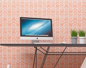 Wall Stencil - Arrows Seamless Pattern - Modern Geometric Reusable Stencil For Walls
