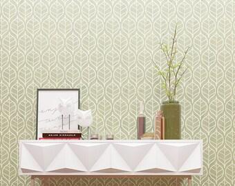 Floral Pattern Wall Stencil - Seamless Floral Pattern Wall Stencil