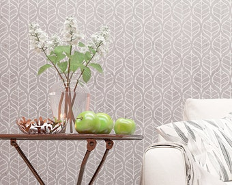 Wall Stencil - Floral Allover Stencil - Decorative Floral Pattern Stencil For Walls