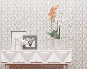 Geometric Wall Stencil - Unique Decorative Wall Stencil - Original Design Geometric Wall Stencil