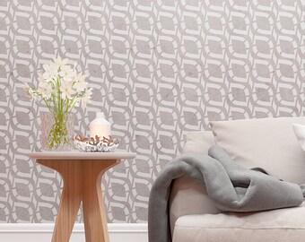 Floral Wall Stencil -  Decorative Repeatable Pattern - Unique Modern Design