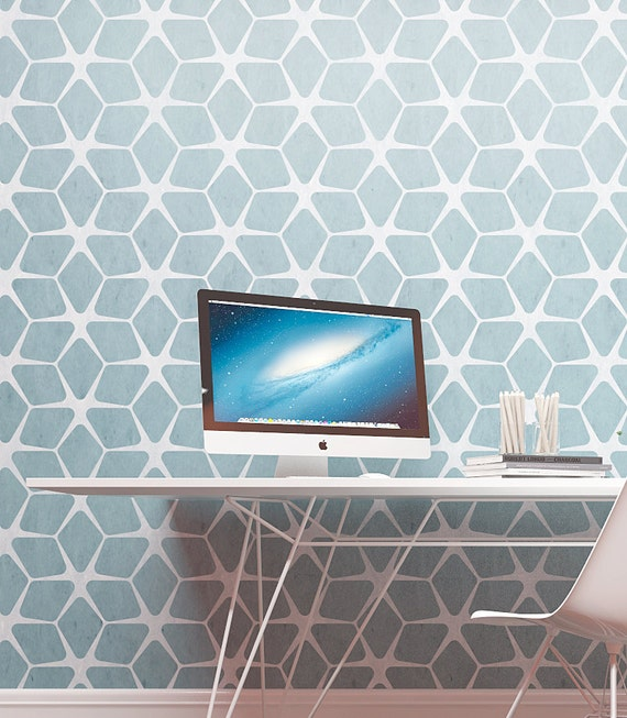 Modern Gometric Wall Painting Stencil Geometric By