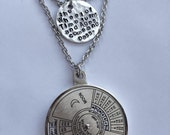 Wheel of Time Perpetual Calendar Double Chain Necklace or Singles (Literature, Book, Fantasy)