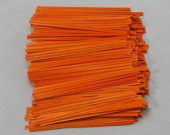 Free Ship! Orange Twist Ties - Assorted Quantities!  TP-7