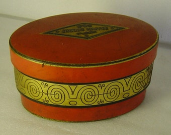 Art Deco tin box with abstract relief pattern  Jacobs Kaffee