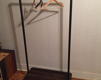 Reclaimed Industrial Clothes Rack