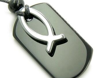 Goddess Spiritual Protection Magic Onyx Amulet Hematite Necklace