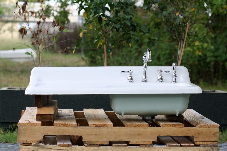 Refinished 42 Monaca 1949 Drainboard Farm Sink by readytore