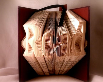 Teacher gift-folded book art-Read-Reader gift-Upcycled book-recycled book-book sculpture