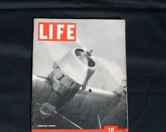 Vintage 1930's LIFE Magazine Transoceanic Transport Cover