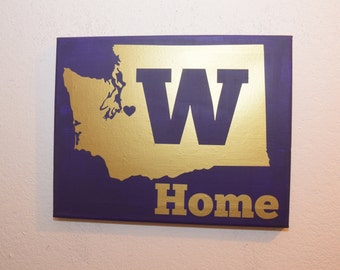 canvas quote wall art sign - University of Washington Huskies Washington state home sign love