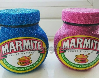 glittered marmite jar 250g