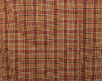 Vintage plaid fabric