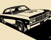 Chevrolet Chevelle SS (1967) Stylization. Choose your Size, Material, Color, & Model Year Customizations (1966, 1967))