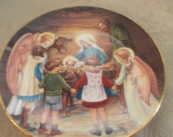 Away in A Manger Second Issue Collectors Plate (1473)