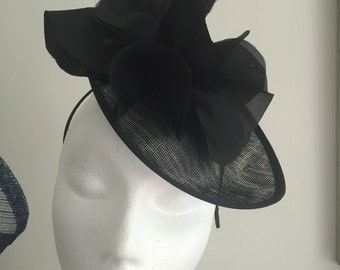 Black Fascinator Hat