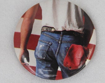 Vtg Bruce Springsteen Pinback Born in the USA Picture Off Album Cover