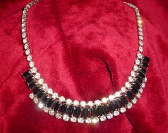 Dramatic Vintage Necklace in Black and White