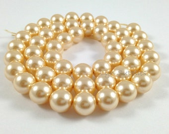 5810 LIGHT GOLD 6mm Swarovski Crystal Pearls 50pcs or 100pcs