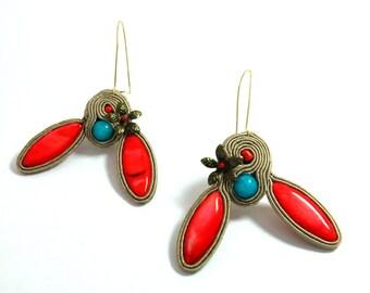 EARRINGS/Soutache/Soutache Earrings/UNIQUE Jewelry/Gift Ideas/Jewelry/Handmade/Soutache Jewelry/Fashion/Boho/Jewellery/Gypsy/Colorful/Style
