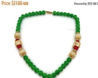 Necklace Light Green pearl Jewelry Bollywood Necklace Designer Necklace Indian Handmade Jewelry Wedding Jewelry-Price for 01-IDJ13